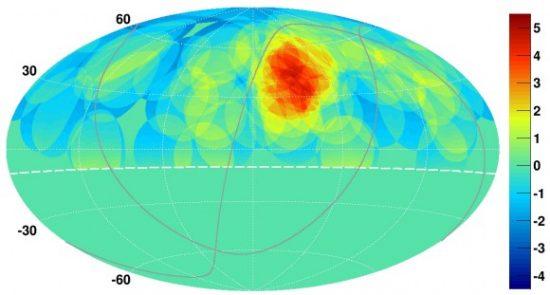 Image credit K. Kawata, University of Tokyo Institute for Cosmic Ray Research