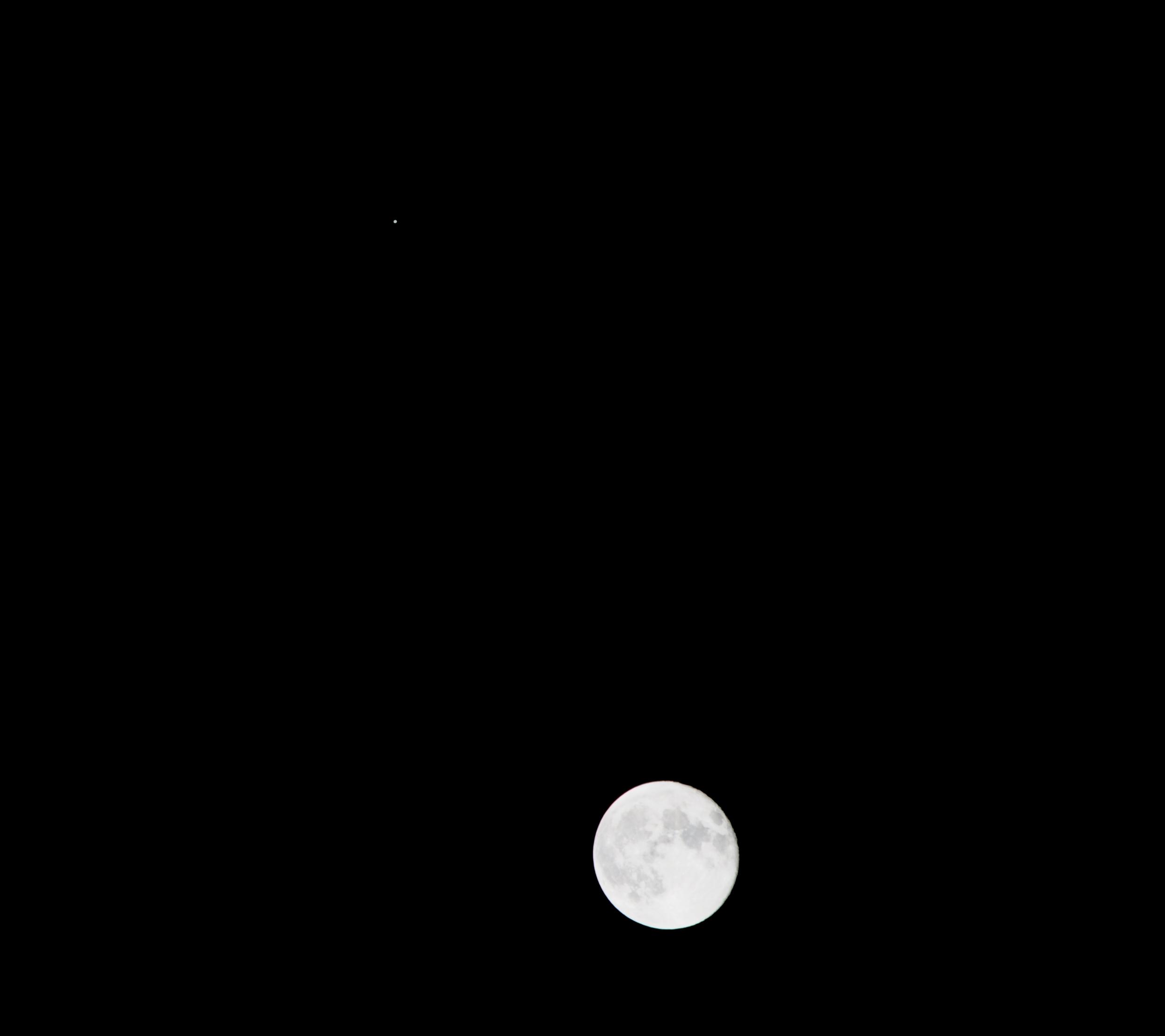 the moon and jupiter tonight - photo #31