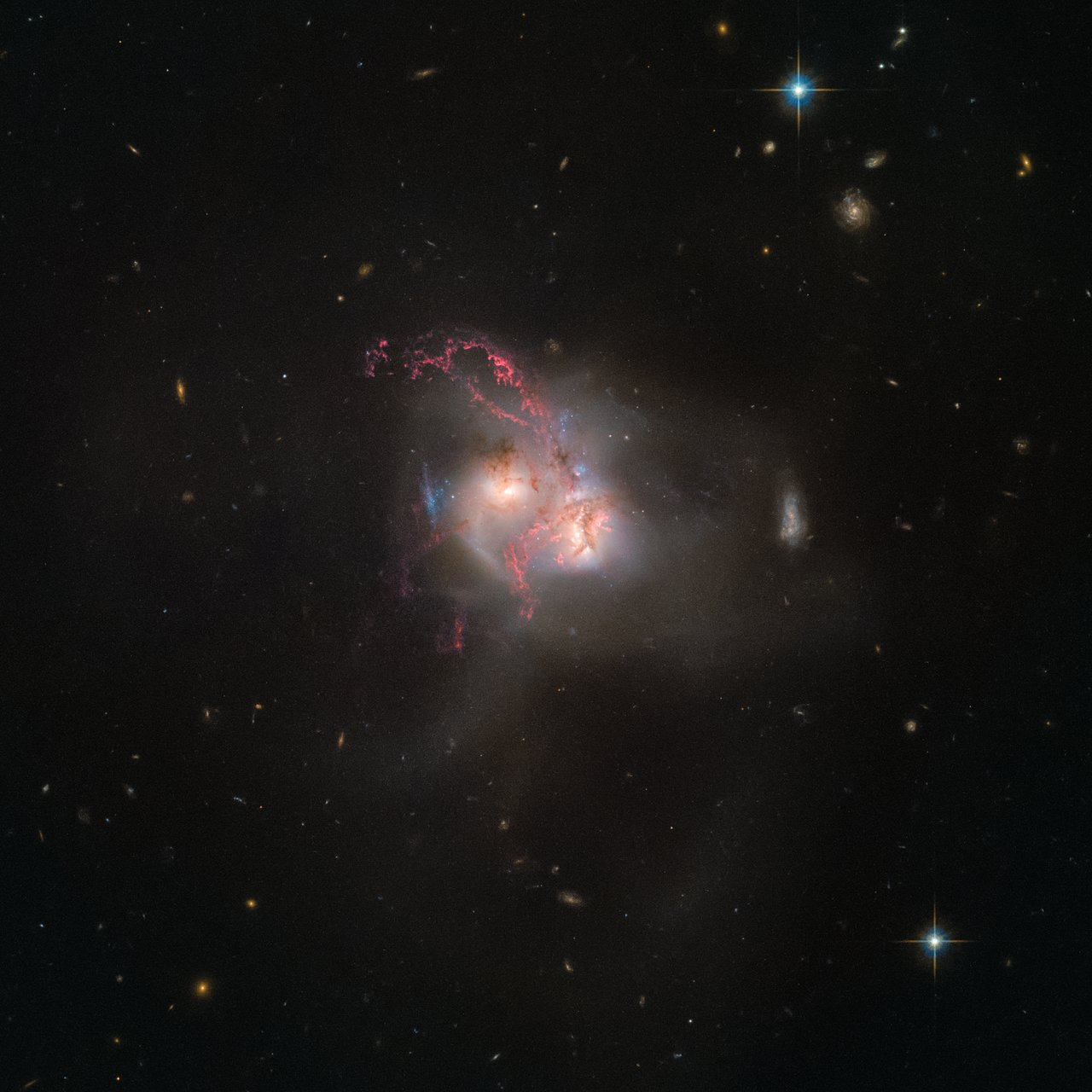 hubble galaxy collision - HD1200×1200